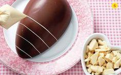 Receita de Ovos de páscoa com recheio para comer de colher