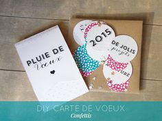 DIY carte de voeux 2015 confettis Christmas Time, Merry Christmas, Xmas, Christmas Ideas, Diy Paper, Paper Crafts, Happy New Year 2014, Create Invitations, Easy Diy Crafts