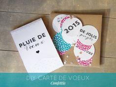 DIY carte de voeux 2015 confettis