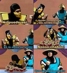 Scorpion si que sabe... Mortal Kombat Memes, Rap, Haha Funny, Stranger Things, Dankest Memes, Funny Pictures, Good Things, Mood, Sega Genesis
