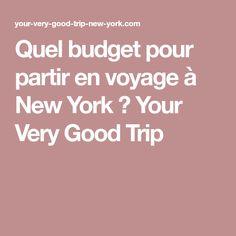 Quel budget pour partir en voyage à New York ? Your Very Good Trip