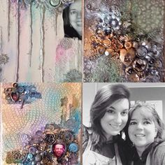 Had a great time.... #mixedmedia #finnabair workshops Coventry #daisysjewelsandcrafts #AnnaDabrowska #primaflowers #collage#acrylic #micapowder #microbeads #stencil #gesso #glitter #gel #spray #laces #ornaments
