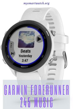 Let's take a look at Garmin Forerunner 245 Music. If you love to train and to listen to music at the same time, this watch is going to be a great choice for you Smart Fitness Tracker, Fitness Gadgets, Heart Rate, Listening To Music, Smartwatch, Entrepreneurship, Monitor, Collections, Band