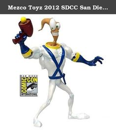 Mezco Toyz 2012 SDCC San Diego Comic Con Exclusive 6 Inch Action Figure Metallic Earthworm Jim. This San Diego ComicCon 2012 edition features a special metallic finish ultrahightechindestructiblesuperspacecybersuit of classic video game star, Earthworm Jim! Evildoers beware as Mezco brings the intergalactic hero Earthworm Jim to life as an articulated action figure! Earthworm Jim comes complete with a gameaccurate plasma blaster as well as his famous...