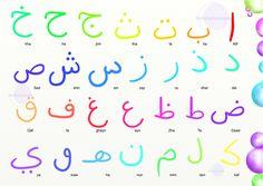 Alfabeto arabo per bambini colorato. Puoi scaricarlo sul blog www.permillecammelli.it