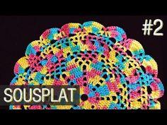 Sousplat colorido de crochê - (Parte 2) Final - YouTube