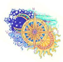 Sun, Stars & Moon, Compass... Brilliant sense of direction!