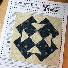 Betsy's Best .....quilts and more: Moda BlockHeads Week 15