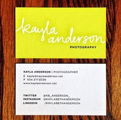 kayla is a fantastic photographer and storyteller from new orleans that was seeking to buy business cards at a competitive price - Buy Business Cards