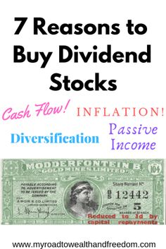 Dividend stocks are all the rage becasue they're a great source of passive income. Here's 7 reasons to buy dividend stocks and build wealth grow over time. Stock Market Investing, Investing In Stocks, Investing Money, Dividend Investing, Investment Quotes, Dividend Stocks, Passive Income Streams, Investment Portfolio, Early Retirement
