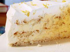 I love lemon meringue pie.  This seems like a logical next step - Lemon Meringue Cake.