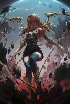 Witch by fengua-zhong.deviantart.com on @DeviantArt - More at https://pinterest.com/supergirlsart #female #fantasy #art