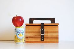 Wooden lunch box. An instant classic from Meriwether of Montana.