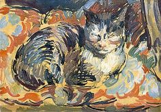 he Cat, Opussyquinusque by Duncan Grant  Date painted: c.1932 Oil on board, 23 x 31 cm Collection: Charleston