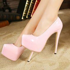 2014 new Sexy high heeled shoes fashion thin heels stage shoes star ruslana korshunova women's pumps platform plus size 35 from S. Hot Heels, Sexy High Heels, Size 12 High Heels, Frauen In High Heels, Platform High Heels, Lace Up Heels, High Heels Stilettos, High Heel Boots, Womens High Heels