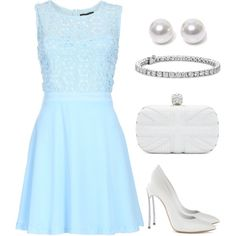 Fresh Summertime Blue by cynthiacampbell-ccd on Polyvore featuring polyvore fashion style Chase7 Casadei Alexander McQueen Blue Nile Nouv-Elle