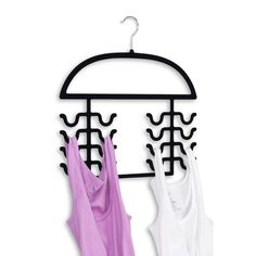 Keep your favorite clothing accessories organized and easy to reach with this tank top and bathing suit organizer. Perfect for tank tops, camisoles, sun dresses, and more this hanger two-pack will all