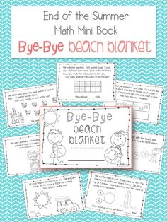 Bye-Bye Beach Blanket: A Math Mini Book Freebie for Word Problems (Perfect for the Beginning of the Year)