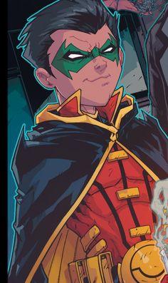 damian wayne | Tumblr Son Of Batman, Batman Family, Batman Robin, Batman Stuff, Dc Comics Characters, Dc Comics Art, Robin Comics, Robins, Robin Damian Wayne