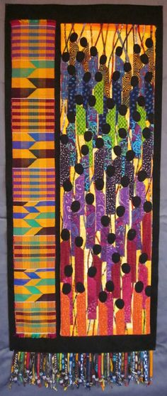 AFRICAN INFLUENCED QUILT.............PC.................❤ =^..^= ❤ Kitambaa: December 2011