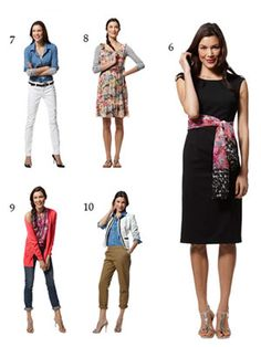 20 Summer Pieces - 51 Work & Play Outfits. (6-10) 9. Yes, it's the scarf as a halter top! More easy scarf tips at redbookmag.com/tieascarf.