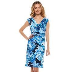Ronni Nicole Floral Ruched Sheath Dress - Women's