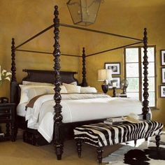 North Shore King Canopy Bed In Dark Wood Clearance California King Canopy Bed Canopy Bedroom
