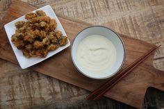 gefrituurde mosselen met wasabi mayonaise