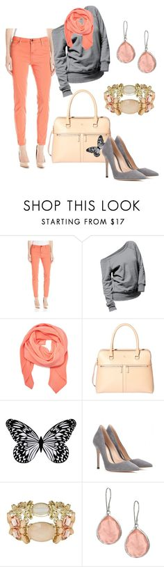 """""""Peach"""" by bodotami on Polyvore featuring Liverpool Jeans Co., Tanya Taylor, Modalu, Visionnaire, Gianvito Rossi, Love Struck and Ippolita"""