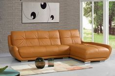 modern L shaped leather couch