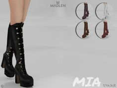 Mesh modifying: Not allowed. Found in TSR Category 'Sims 4 Shoes Female',Mesh modifying: Not allowed. Found in TSR Category 'Sims 4 Shoes Female' Boots for Girls - Face the Wind and Climate with Charm Women's boots : With t. Sims 4 Cc Packs, Sims 4 Mm Cc, Sims Four, Sims 4 Mods Clothes, Sims 4 Clothing, Pelo Sims, Sims 4 Collections, Sims 4 Cc Shoes, Girls Shoes