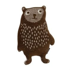 Little bear stuffed animal - brown - Klippan Yllefabrik