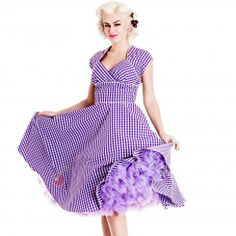 Hell Bunny Lazy River Dress | Gingham 50's Retro Dress