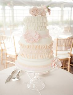 cake, dessert, embellishments, flowers, ruffles, fondant, modern, multi-tier, round, all, bashful, bite, blush, blushing, bridal, bride, cakes, cakes/treats, decor, eat, first, grey, ideas, inspiration, inspirations, let, pastels, perfect, pink, pinked!, shower, sweets, thalia, them, things, toppers, vintage, watercolor, wedding, wedding!!