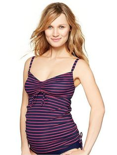 Gap's Drawstring Tankini Top and High-Waist Bikini Bottom