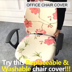 This Decorative Computer Office Chair Cover is made from soft comfortable and wrinkle-resistant fabric that will protect your new seat from spills and stains. - Office Chair - Ideas of Office Chair Office Organization At Work, Sewing Projects, Diy Projects, Old Chairs, Office Decor, Decorating Office At Work, Office Ideas For Work, Home Office Chairs, Interior Design Living Room