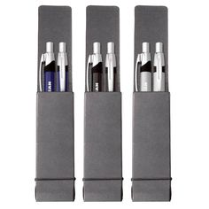 G4003 Ace Pen & Pencil Set - Imprint Method: Laser engraved - Oxidized Option - 360° Laser Option - Silk Screened Option - Packaging: black cardboard double case with elastic closure (P574) - Colors: satin silver, blue or black