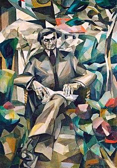 Albert Gleises Portrait de Jacques Nayral c 1911 161.4 x 114cm Oil on Canvas