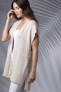 Ravelry: Banana Leaf Duster Vest pattern by Pam Grushkin Duster Vest, Vest Pattern, Knitting Patterns, Banana, Tunic Tops, V Neck, Mens Fashion, Ravelry, Crochet
