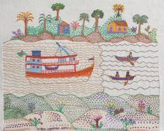 Mulheres brasileiras bordam a imagem de rios que povoam seu imaginário - Casa.com.br