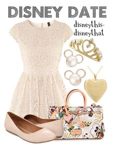 Cute, but replace the crown with a sparkly hair comb (much more subtle), and fewer Disney accents—either the earrings OR the purse >>> Disney Date Outfit Disney Themed Outfits, Disney Bound Outfits, Cruise Outfits, Princess Outfits, Cute Fashion, Womens Fashion, Disney Fashion, Fandom Fashion, Nerd Fashion
