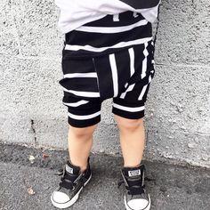 A personal favorite from my Etsy shop https://www.etsy.com/listing/285879303/stripe-toddler-harem-shorts-baby-harem