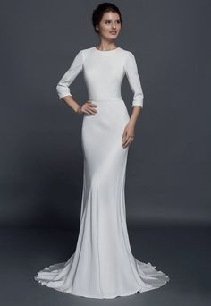 Modest long sleeve wedding dresses are great or traditional church weddings. Some religions require portions of the bride to be covered.