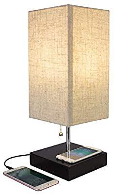 Amazon Com Bedroom Lamp With Wireless Phone Charging Base Qi Desktop Wireless Charging Lamp With Usb P In 2020 Wireless Charging Lamp Bedroom Lamps Desk Lamp Office