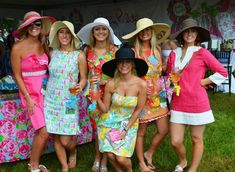 What I love most about this soiree? The apparel. Traditionally, men wear everything that is seersucker and Vineyard Vines, while ladies adorn Lilly dresses and sun hats.