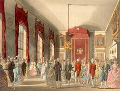 When was the London season? by Rachel Knowles (Image is A Drawing Room at St James' Palace from The Microcosm of London (1808-10)