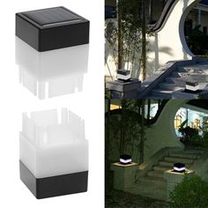Outdoor Solar Light Fence Post LED Cap Light Garden Yard Pool Lamp Floodlights Waterproof Square Emergency Lights Landscape Lamp #Affiliate