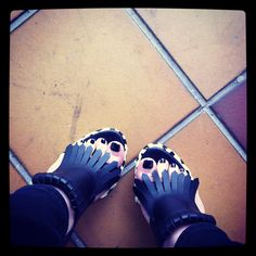 My shoes ... Marni leather loafer sandals with fiberglas heels ...