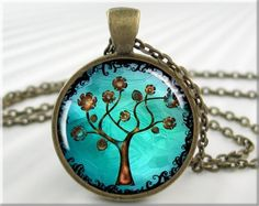Tree Of Life Pendant Resin Necklace Tree by MGArtisanPendants, $12.95