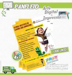 Serviço: Criação Digital de Panfleto + Impressão.